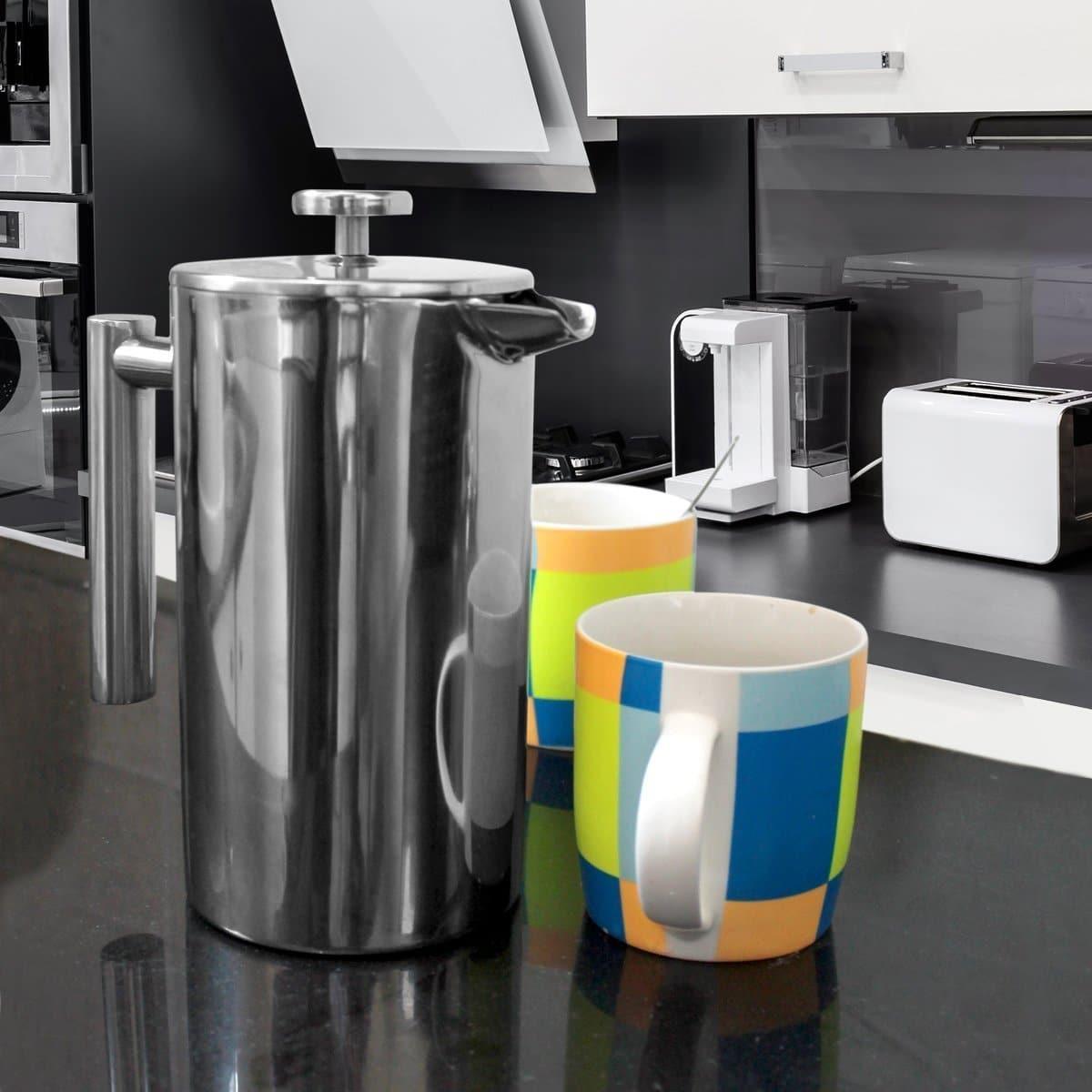 French Coffee Press Espresso & Tea Maker info