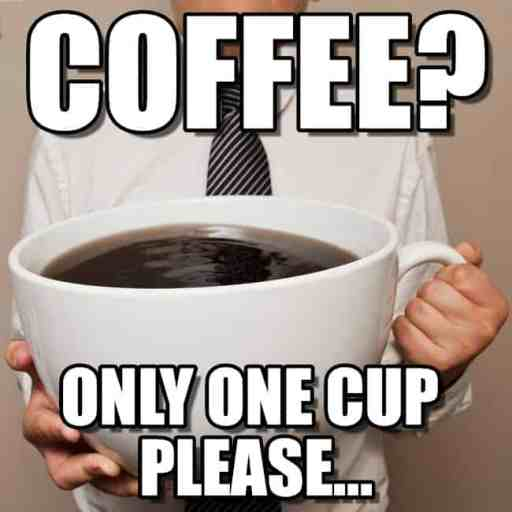 just one cup meme