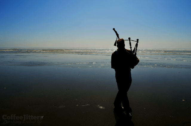 bagpipes and the sea