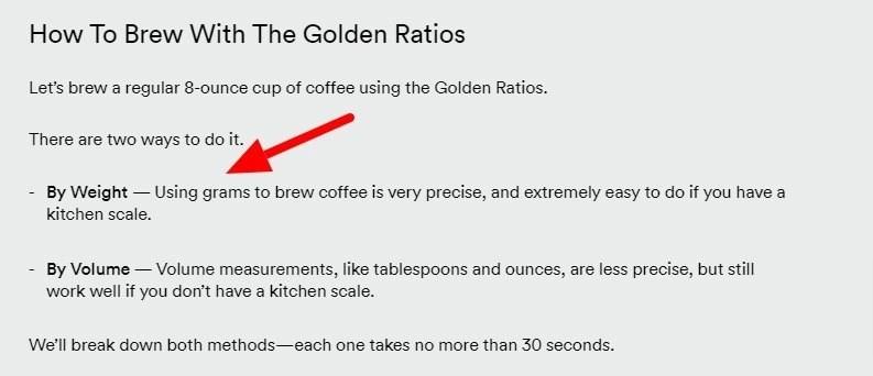 coffee writing tricks