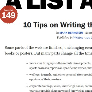 10 Tips on Writing the Living Web · An A List Apart Article - Google Chrome 5312015 20353 PM