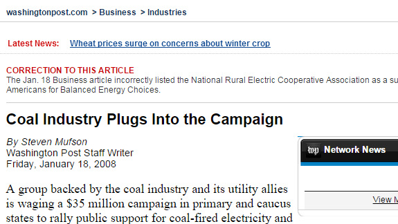 Coal Industry Plugs