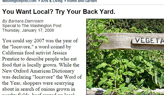 You Want Local Try Your Back Yard.