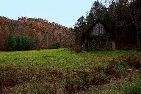 The most photographed barn in Floyd County Virginia.