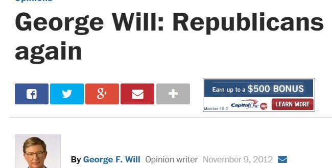 George Will Republicans must start over again
