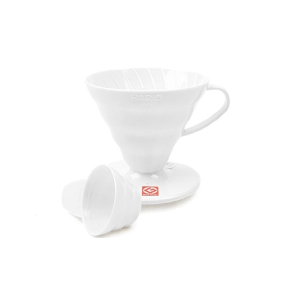 V60 pour-over white plastic