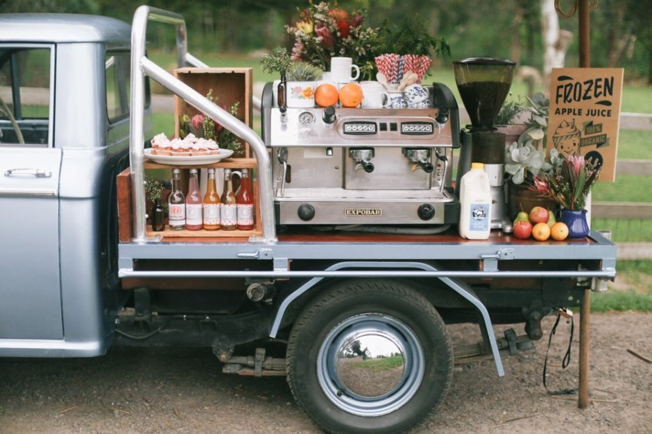 Vintage Ute Coffee Cart