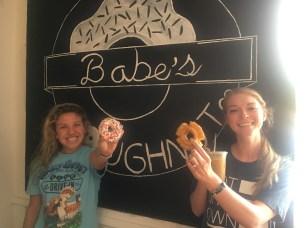 Roomies and their yummy doughnut choices!