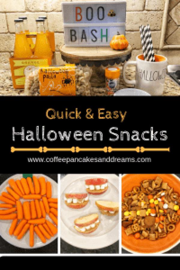 Quick and Easy Halloween Snacks #kidfriendly #halloweentreats #classparty #ideas #recipes