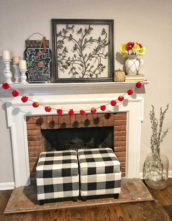 Fall Farmhouse Mantel