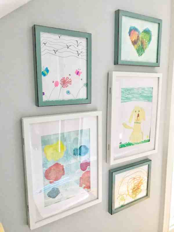 Gallery Wall for Kids Art Work