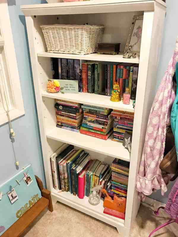 """Tween Girl Decluttering Project """"before"""" and """"after"""""""