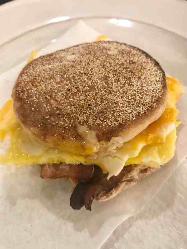 Make Ahead Bacon Egg Breakfast Sandwich