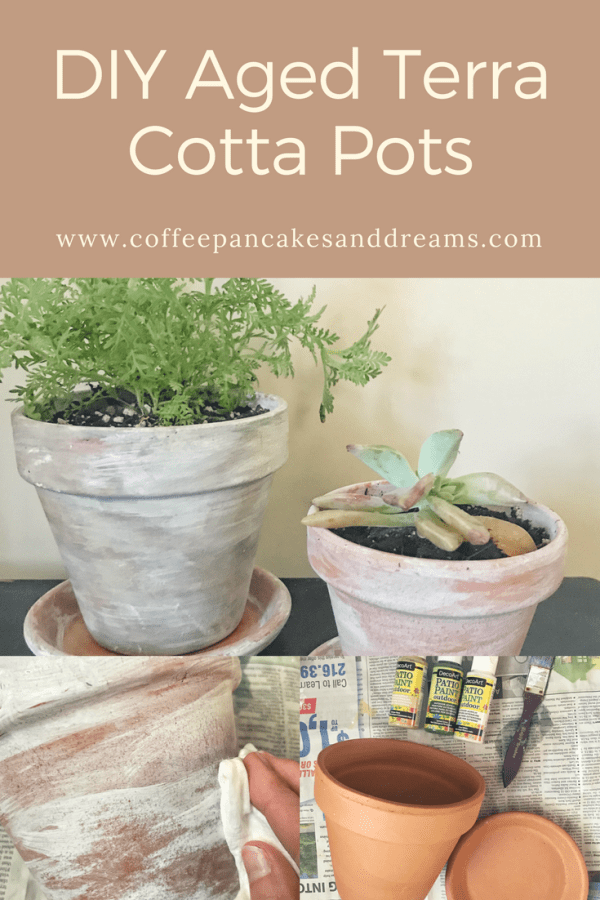 Easy DIY Aged Terra Cotta Pots