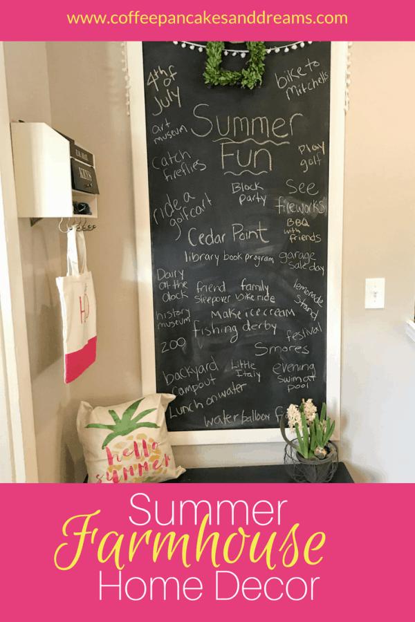 Farmhouse Decor Ideas for Summer #diy #budget