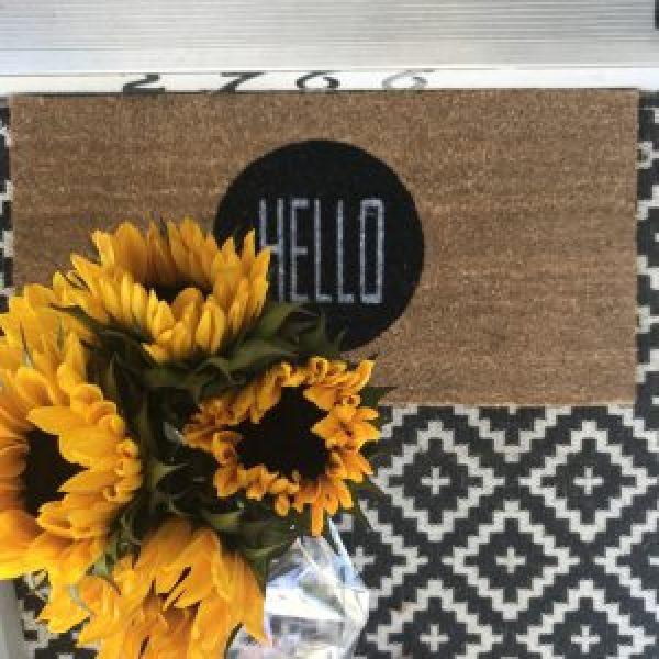 Layered door mat inspiration #farmhousestyle #porchideas #frontdoor