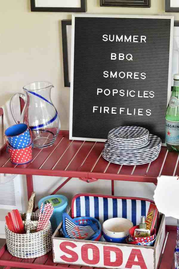 Summer Bar Cart Makes Outdoor Dining Easy