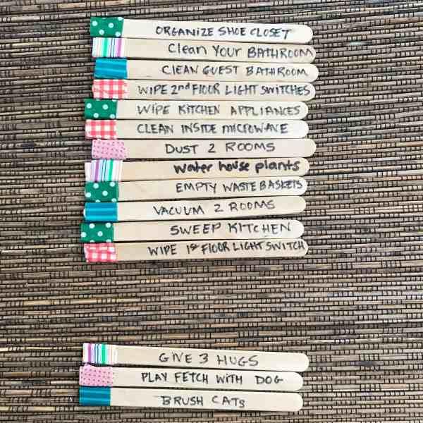 Popsicle Stick Chores #chores #kids #chorecharts