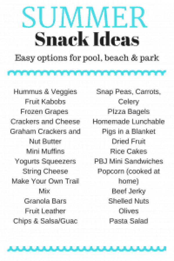 Pool Friendly Snack Ideas #summer #kidfriendly #snackideas