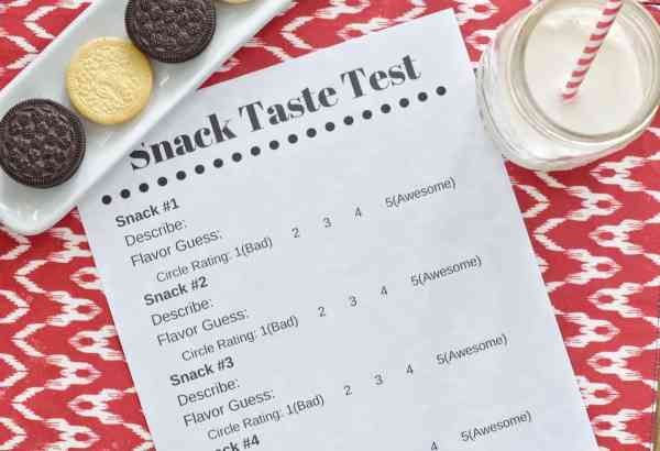Oreo Taste Test Activity-Sample 5 oreos and vote on your favorite #kids #ballot #activity