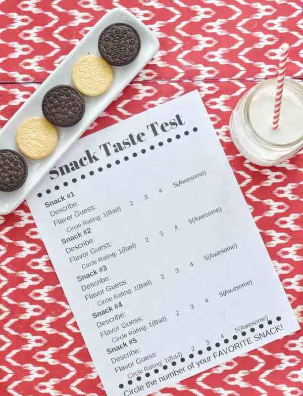 Printable Ballot for a Cookie Taste Testing Party #kids #rainydayfun #inspiration