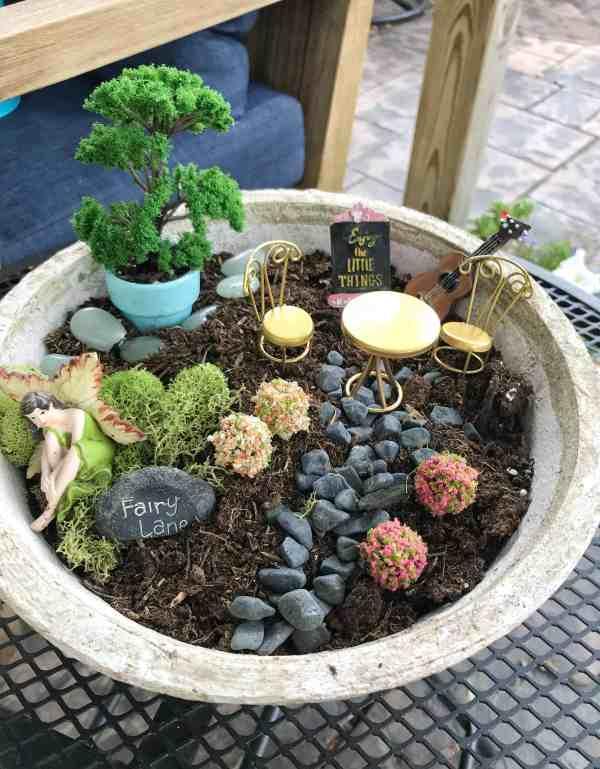 How to make a small fairy garden #diy #budget #ideas