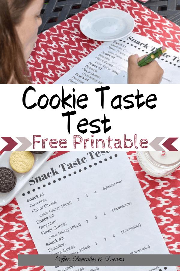 Throw a cookie taste test party on a rainy day #summeractvitivites #freeprintable #tastetest