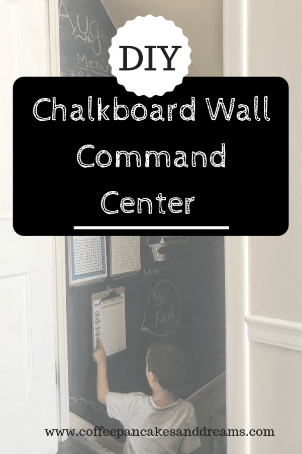 How to DIY Chalkboard Wall Command Center #organization #familyorganization #chalkboardwall #commandcenter