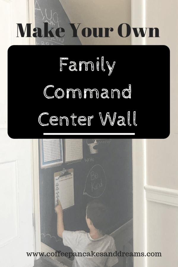 DIY Command Center Chalkboard Wall #familyorganization #inexpensive #chalkboardpaint