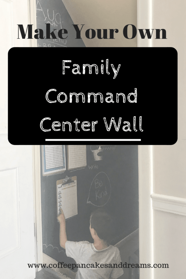 DIY Command Center Chalkboard Wall #familyorganization #inexpensive #chalkboardpaint