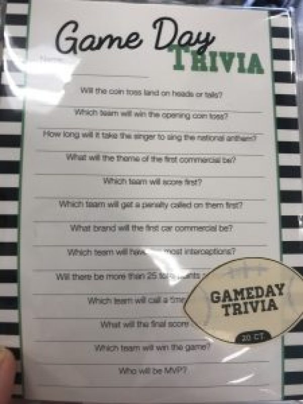 Ideas for Football Tailgate Party #printables #targetdollarspot #footballtrivia