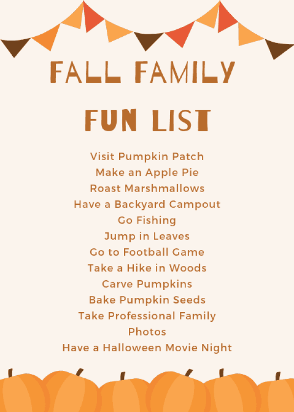 Fall Activities for Families #fallbucketlist #familyfriendly #fun