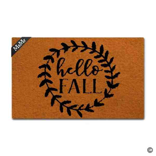 Affordable Fall Doormats #falldecor #frontporch #layereddoormats