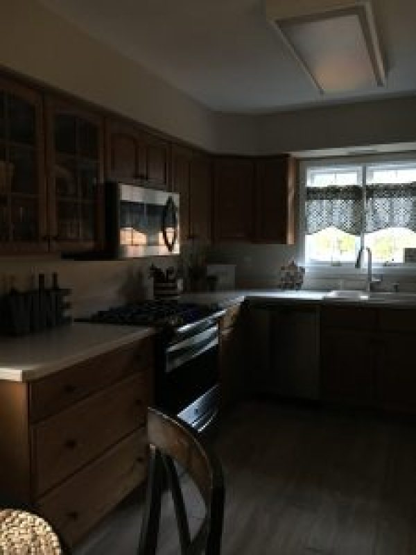 Inexpensive kitchen lighting #diy #budgetfriendly #kitchenrenovation