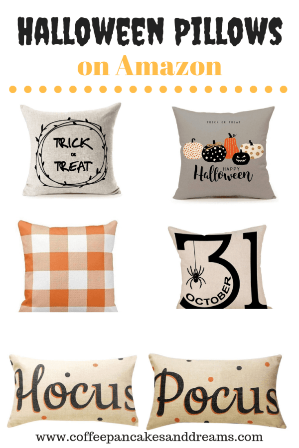 Inexpensive Halloween Pillows #decorating #blackandwhite #hocuspocus