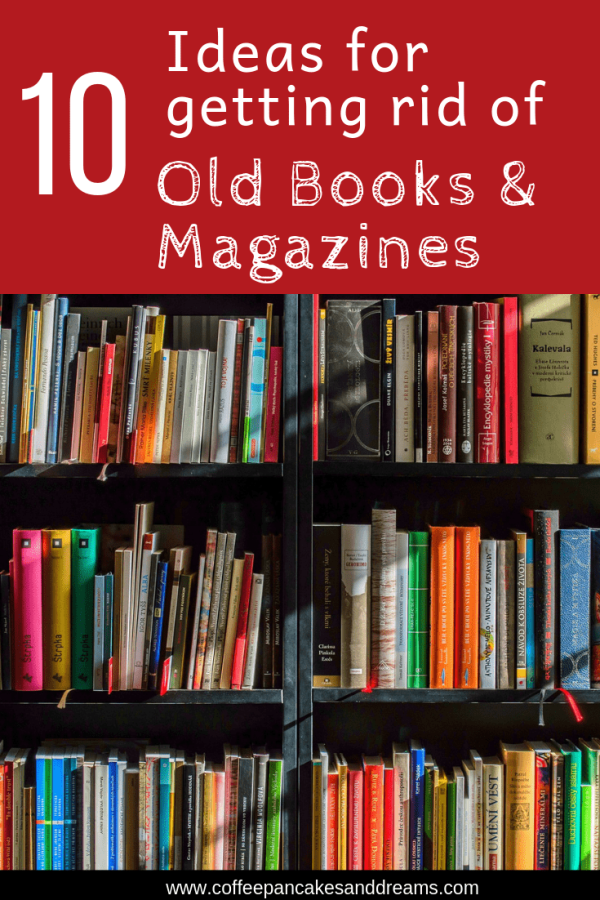 10 Tips for Decluttering Old Books and Magazines #repurpose #decluttering #organization