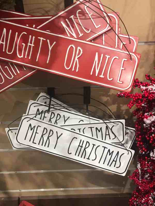 Rae Dunn Inspired Christmas Signs #kirklands #farmhouse #christmasdecor