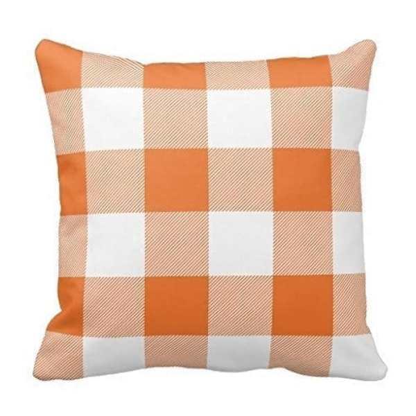 Buffalo Check Pillows for Halloween #halloweendecor #buffalocheck