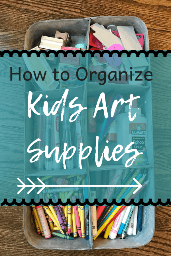 Kids art supply organization ideas #organization #kidsart #kidsrooms