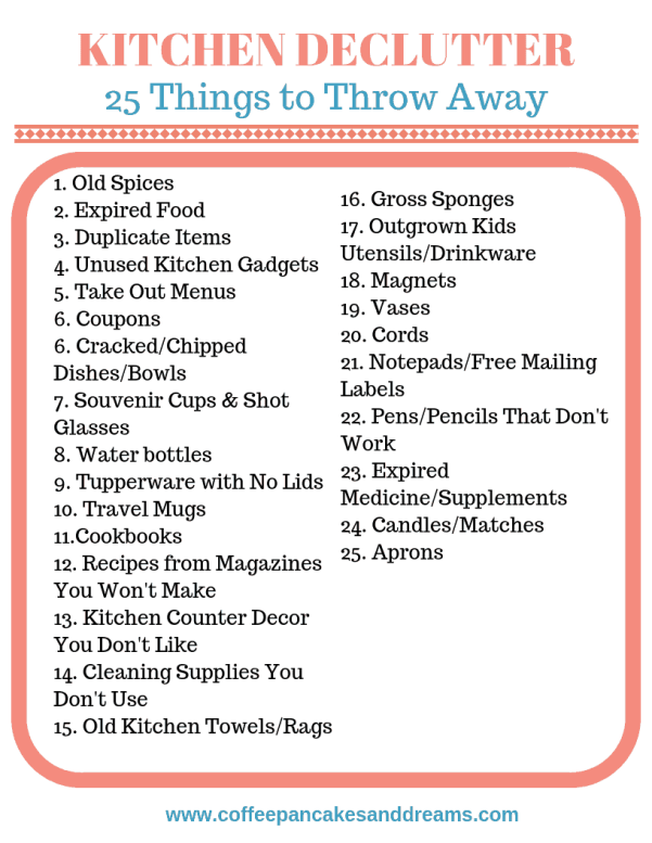Decluttering Your Kitchen #printablechecklist #declutter #kitchenorganization