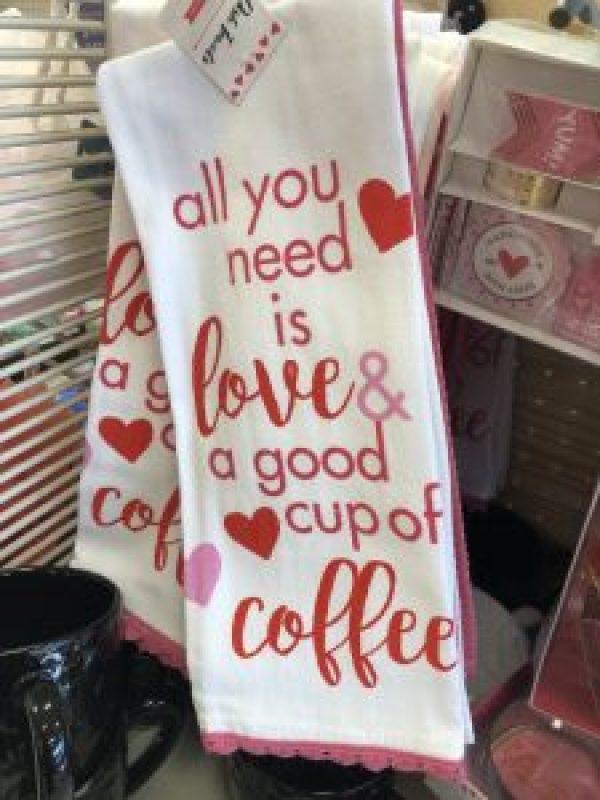 Valentine's Day Kitchen Towels #valentinesdecor #farmhousevalentines #targetfinds