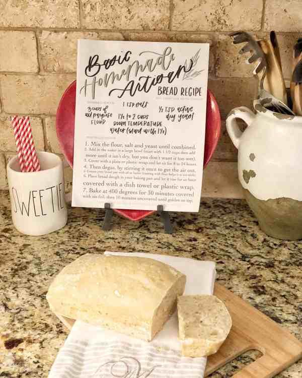 Easy Homemade Bread Recipe #bread #bakedgoods #recipes