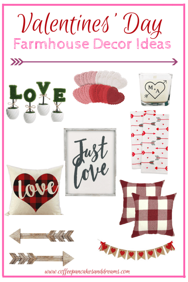 Farmhouse Chic Valentine's Day Decor Finds #inexpensive #farmhouse #fixerupper #inexpensive