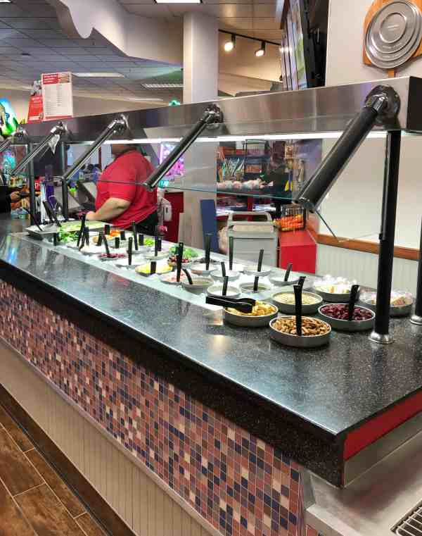 Food options at Chuck e. Cheese's #sponsored #northolmsted #ohio #saladbar