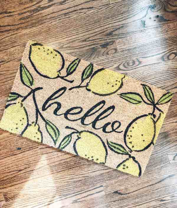 Spring Home Decor Trends #doormat #farmhousestyle