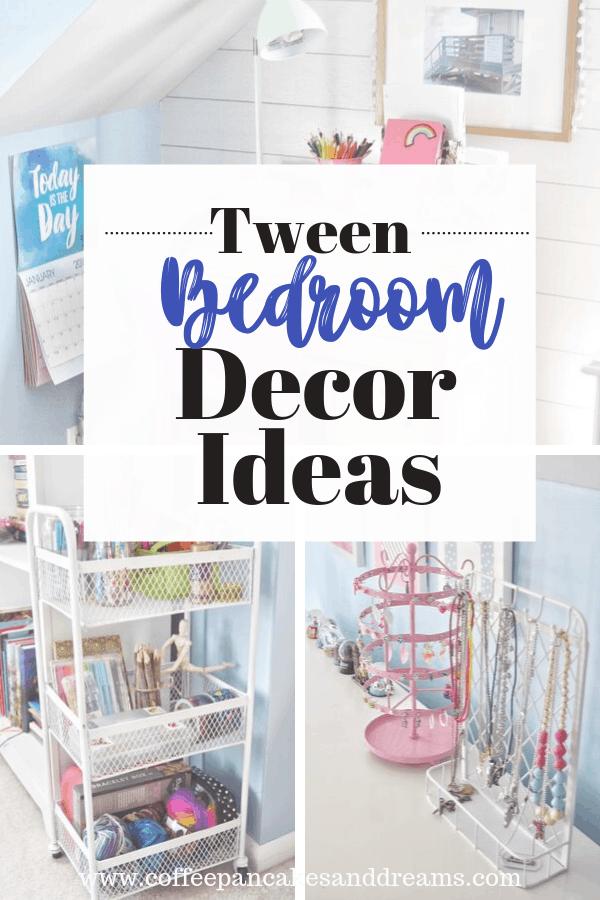 Tween girl bedroom decor ideas #teens #decorating #coastal #organization