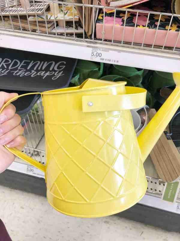 Inexpensive garden themed decor #yellow #target #springhomedecor