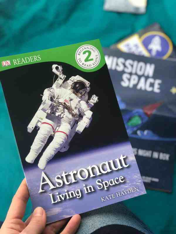Space themed subscription box #kidsnightinbox #spacethemed