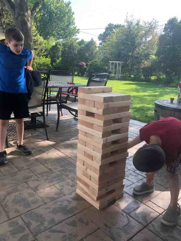 backyard jenga set