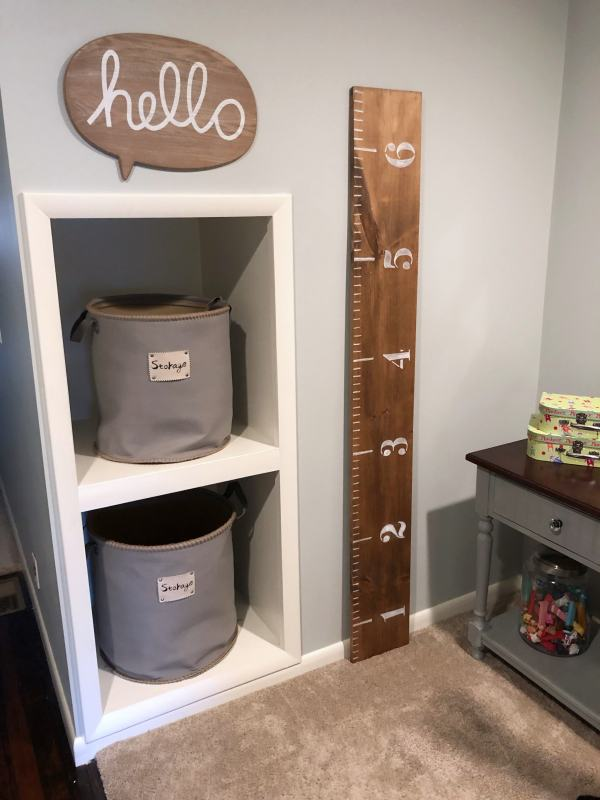 how to make a wooden ruler growth chart for cheap #diy #growthcharts #farmhousedecor #measuringchart